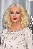 LOS ANGELES - NOV 7:  Christina Aguilera at the The Voice Season 5 Judges Photocall at Universal Stu