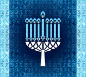 foto of hanukkah  - Hanukkah candles with pattern - JPG