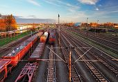 picture of railroad yard  - Train freight station  - JPG