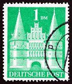 Postage Stamp Germany 1948 Holsten Gate, Lubeck