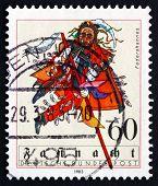 Postage Stamp Germany 1983 Federahannes, Swabian-alemannic Carni