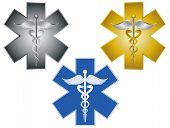 Star Of Life Caduceus Medical Symbol Illustration