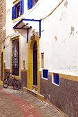 Old street in Essaouira Morocco