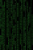 Vertical Green Binary Code Matrix Background