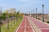 Paseo con carriles de bicicleta
