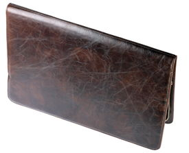 stock photo of crocodilian  - image of one leather crocodilian notebook cover isolated - JPG