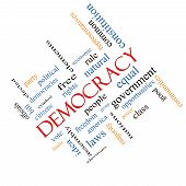 Democracy Word Cloud Concept Angled