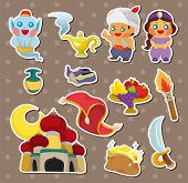 picture of aladdin  - Artoon Lamp Of Aladdin Stickers - JPG