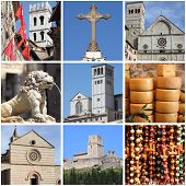Assisi landmarks collage