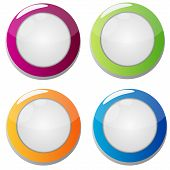 colorful round convex buttons