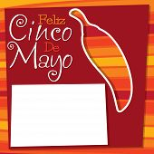 stock photo of chillies  - Cinco De Mayo Chilli Card In Vector Format - JPG