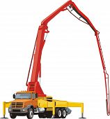 foto of chassis  - construction concrete pump on the truck chassis - JPG