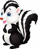 Cute skunk cartoon
