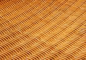 Bamboo Basketwork Closeup On Old Chair