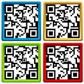 image of qr codes  - QR code set for smart phone - JPG