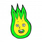 cartoon friendly fireball