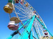 Tall Turquoise Ferris Wheel