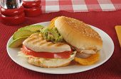 Chicken Sandwich With Avocado Slices