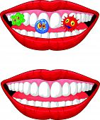 Smiling lip cartoon