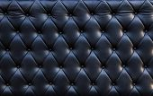 Close Up Of Blackish Luxury Sofa Leather Texture Use As Textured Background Backdrop And Another Sur