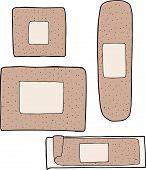 Various Adhesive Bandages