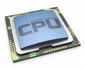 image of processor socket  - CPU Central processor unit on white background - JPG