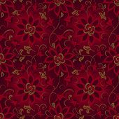 Floral abstract background, seamless