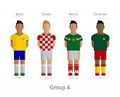 Football players team. Group A