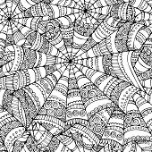 spider web seamless pattern