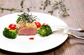 Dish With Saddle Of Lamb