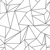 Seamless pattern of white triangles. Rasterized Copy