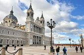 Cathedral La Almudena In Madrid