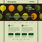 Website Template with Abstract Header Design - Circles, Drops