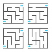 Set of vector mazes