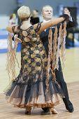 Minsk-belarus, March, 16: Yaroshevich Andrey - Kovaleva Svetlana Perform Senior Standard European Pr