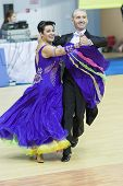 Minsk-belarus, March, 16: Evgeniy Zhukov - Irina Zhukova Perform Senior Standard European Program On