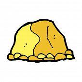 cartoon gold nugget