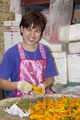 Woman Sorting Chillies