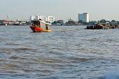 Tug Boat Drag  Sand Barge