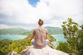 Yoga Meditation In Lotus Pose By Man