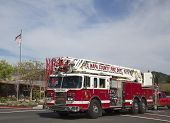 Napa County fire truck in Yountville