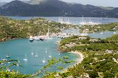 Many Yachts And Sailboats In Antigua Harbor