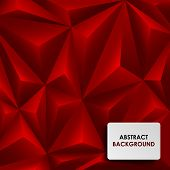Abstract red background pyramid