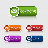 Colored rectangular web buttons contact us
