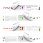 Info graphic colorful sample stickers template