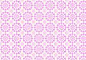 Vintage Modern Pink Flower Pattern On Pastel Color