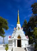White Pagoda At Wat Doi Mae Pang