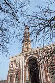 Qutub Minar And Small Building