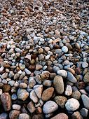 Many rocks piled up in landscape decoration