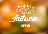 The best autumn offer - hand drawn lettering
